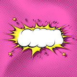 Pop-Arten-Comic-Buch-Wolken-Hintergrundschablone Lizenzfreies Stockbild