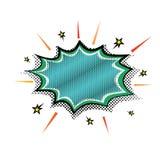 Pop-Arten-Dampfexplosionsboomsprache-Wolkenblase Vektor illustrationnRetro komische Entwurfsspracheblasen Grelle Explosion stock abbildung