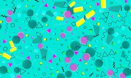 Pop-Arten-Farbhintergrund Memphis-Muster vektor abbildung