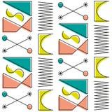 Pop-Arten-stein-nrollenmuster der ursprünglichen Abstraktion Retro- stock abbildung