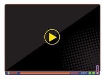 Pop-Arten-Video-Player Stockbild