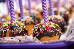Pop cakes close-up. Shot, sweet dessert Stock Photo