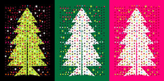 Pop Christmas trees Royalty Free Stock Image