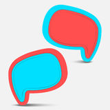 Pop color speech bubble Stock Photo