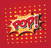 POP! comic word Stock Image