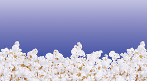 Pop corn. Illustration Popcorn frame with blue background vector illustration