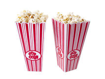 Pop Corn. Isolated on pure white background Royalty Free Stock Images