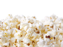 Pop Corn. Isolated on white background Stock Photos