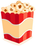 Pop corn. Illustration of isolated pop corn on white background Stock Photography