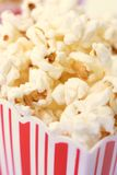 Pop corn. Red barge with delicious pop corn