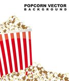 Pop corn. With space for copy. vector illustration Stock Photo