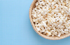 Pop Corn. On colored background Stock Photo