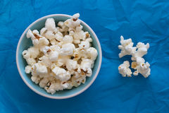 Pop Corn. On colored background Stock Images
