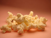 Pop corn. On pink background Royalty Free Stock Images