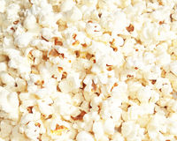 Pop corn background. Close-up popcorn back ground white Royalty Free Stock Photography