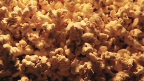 Pop corn background nobody. Day light stock video footage