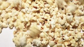 Pop corn background nobody hd footage. Studio stock video footage