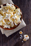 Pop corn in a bowl Stock Images