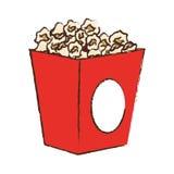 Pop corn box. Icon over white background. colorful design.  illustration Stock Photography