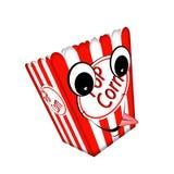 Pop corn box. Stock Photos