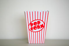 Pop corn box. Royalty Free Stock Photography
