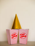 Pop corn boxes. Royalty Free Stock Photos