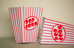 Pop corn boxes. Stock Image