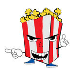 Pop corn cartoon Stock Image