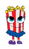 Pop corn cartoon. Vector illustration of pop corn cartoon girl Stock Photography
