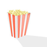 Pop corn at cinema. Vector illustration of paper brick of pop corn sold at the theatre Royalty Free Stock Images