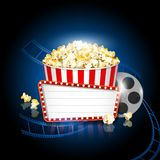 Pop corn cinema movie background Royalty Free Stock Photos