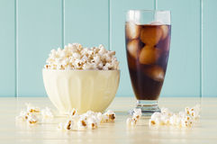 Pop corn and cola Stock Photo