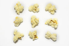 Pop corn collection isolated on white Stock Photos