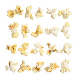 Pop corn collection on white background Royalty Free Stock Photography