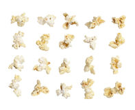 Pop corn collection on white background Royalty Free Stock Photos
