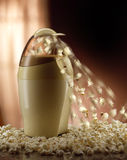 Pop corn. Comfortably at home practical appliance for making popcorn royalty free stock image