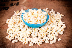 Pop corn in cup Royalty Free Stock Image