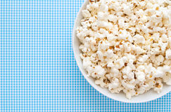 Pop Corn. Delicious Pop Corn on blue background Royalty Free Stock Image