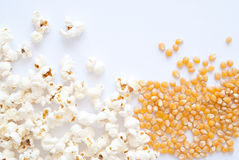 Pop Corn. Delicious Pop Corn on bright background Royalty Free Stock Photography