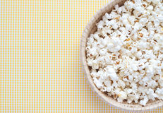 Pop Corn. Delicious Pop Corn on yellow background Royalty Free Stock Photo