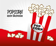 Pop corn. Design over gray background vector illustration Royalty Free Stock Photo
