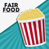Pop corn fair food snack carnival icon. Pop corn fair food snack carnival festival icon Vector illustration royalty free illustration