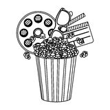pop corn, film and clipart icon Stock Photos