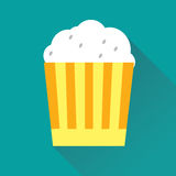 Pop Corn Flat Icon Stock Image
