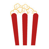 Pop corn food icon. Illustration design Stock Photos