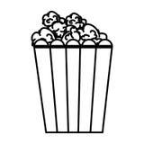 Pop corn food icon. Illustration design Stock Image