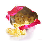 Pop corn in gag isolate. Snak ,Cenema ,Soft Drink Stock Photography