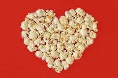 Pop corn heart Stock Images