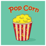 Pop corn icon Stock Photography