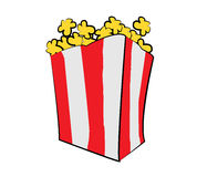 Pop corn illustration Royalty Free Stock Images